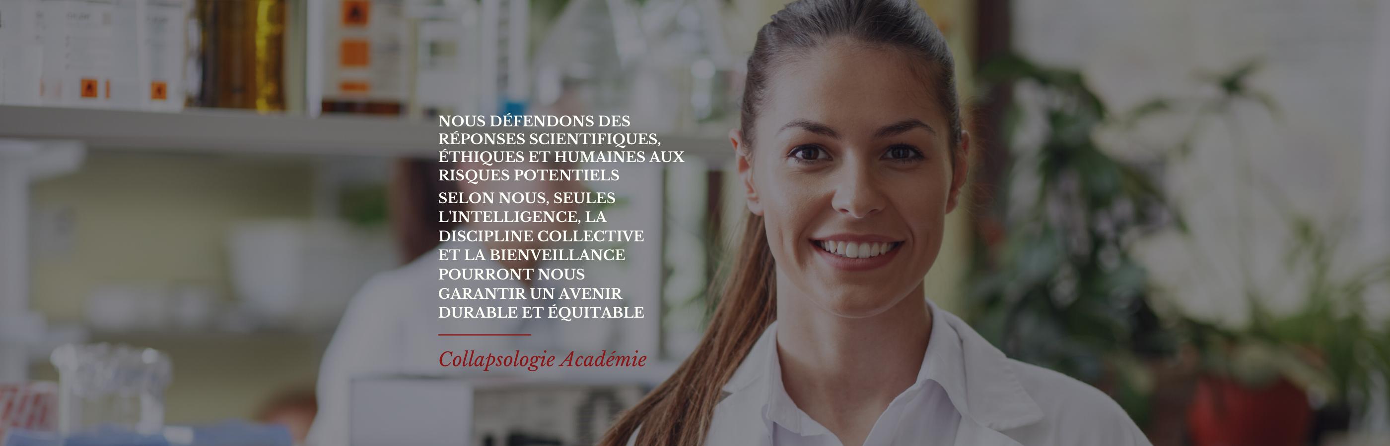 Collapsologie Academie Les scientifiques